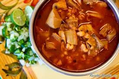 This is how pozole looks when it´s done.