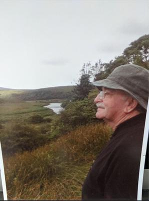 Grandpa looking over his homeland-- County Mayo.