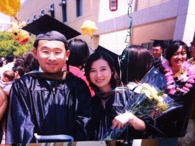My mother graduating CSU San Bernadino.