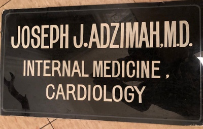 The sign of my great uncle's medical practice