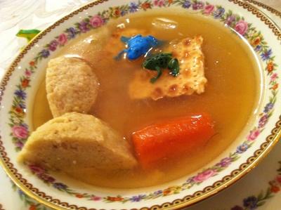 Bubie's famous Matzo Ball soup
