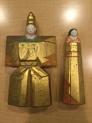 Prince (left) and Princess (right) Japanese Culture Dolls