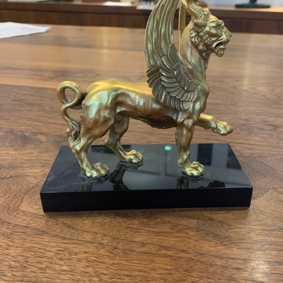 Gold griffin Bookend