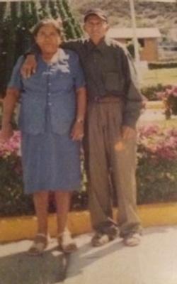 Photograph of Mrs. Flores' parents.