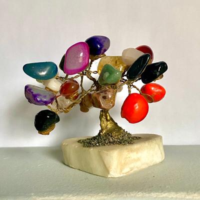 A Peruvian crystal quartz tree.