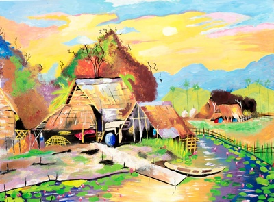 Landscape of Burma in Honor of My Dear Father and Artist, Than Lwin