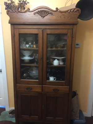 The china hutch in our living room