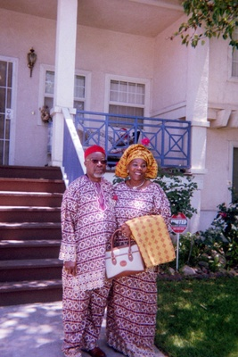 Parents in African Outfit