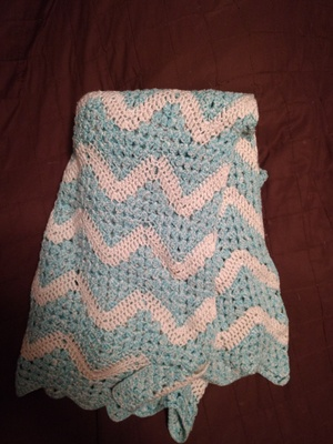 My child hood baby blanket made by my grandma