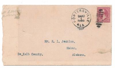Front of Envelope for Letter