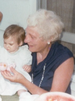 My Great-Great Aunt Lottie holding my Aunt Robyn