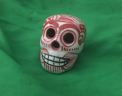 Red sugar skull my great grandma made