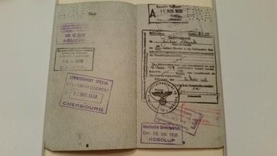 Nazi regime stamp on Julia's passport