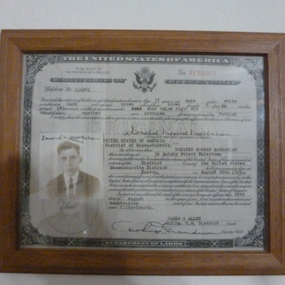 My great grandpa's US Citizen Paper