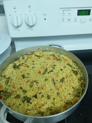 Nigerian Fried rice cooked by me