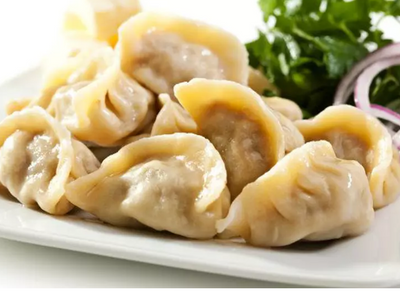 Dumplings are dough around a filling.