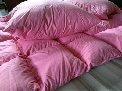 Handmade pink quilt