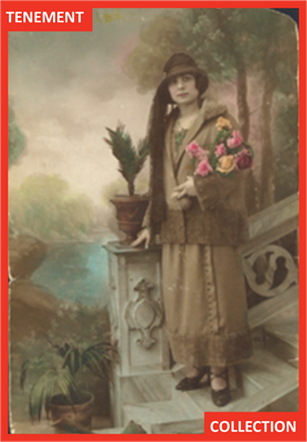 This picture of Rosaria was taken in Sicily as she waited to be reunited with her husband. By the criteria established in the 1925 Johnson Reed Act, Rosaria, as an Italian, was now considered undesirable as an American.