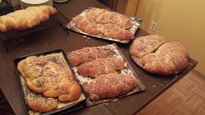 Lots of easter bread
