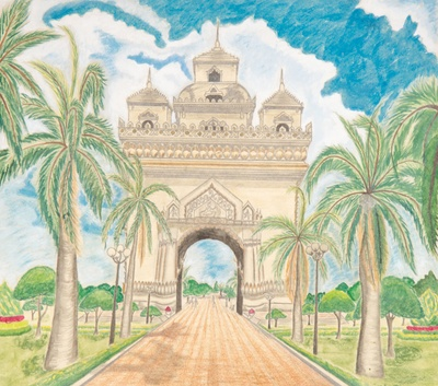 Patuxai (Lao: ປະຕູໄຊ, literally meaning Victory Gate or Gate of Triumph)