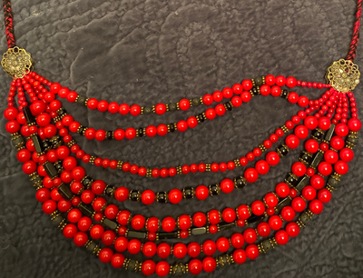 Red Marble Ukrainian Necklace