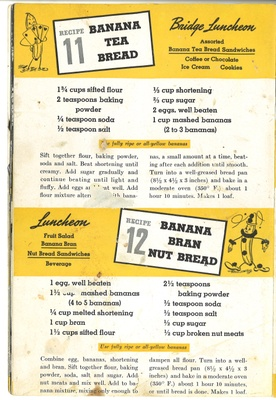 Recipe for Banana Tea Bread