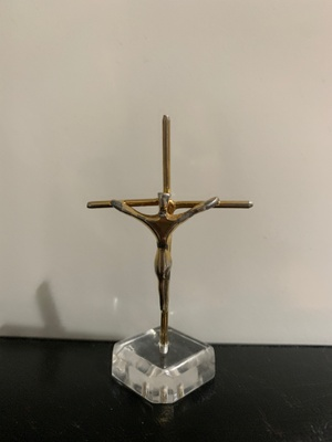 Small crucifix statue