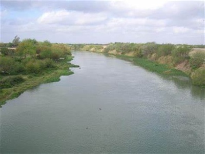 River between the US and Mexico Border
