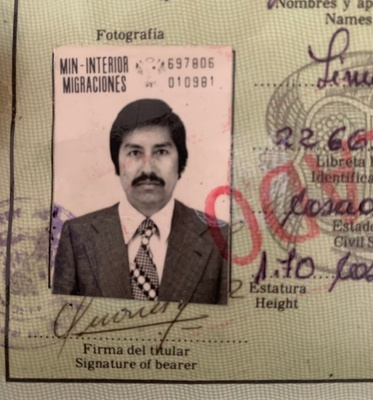 Grandfather (Pedro) Passport Photo