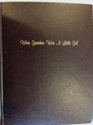 The front cover of my Grandma's book