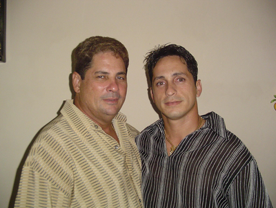 Leonel Jr. with his father, Leonel Sr.