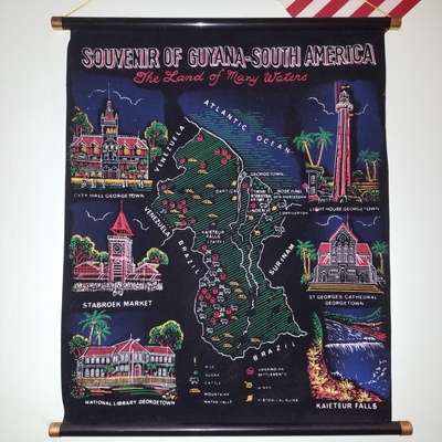 This souvenir map hangs proudly in my family's kitchen.