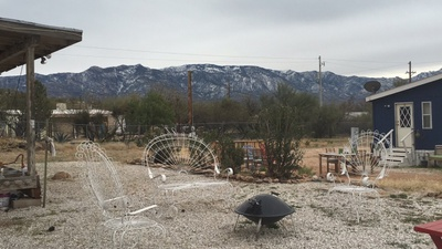 dirt, mountains, trailers, home