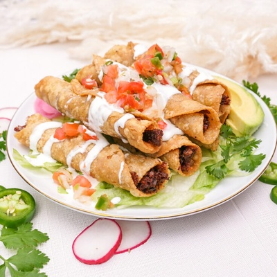This is flautas on a plate.
