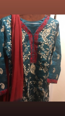 A traditional Bangladeshi suit.