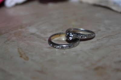 My mother's engagement and wedding rings