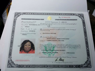 becoming a citizen was a joy for me