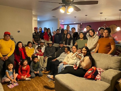 Photo of my family and I last Christmas.