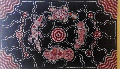 A painting by a famous Aboriginal Native