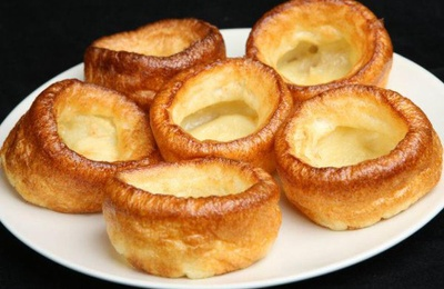 Yorkshire puddings is a home made recipe