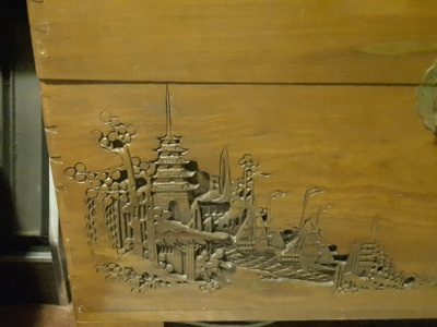 Hard-Carved Drawing in the Frontal View