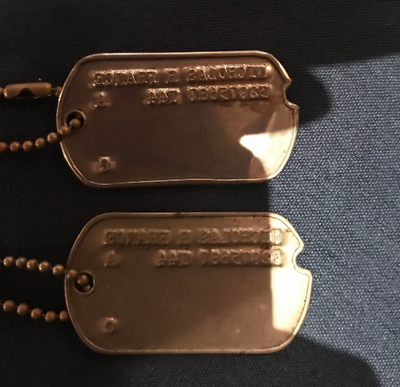 Great Grandpa's World War II Dog Tags