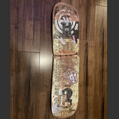 this is the skateboard the guy gave me