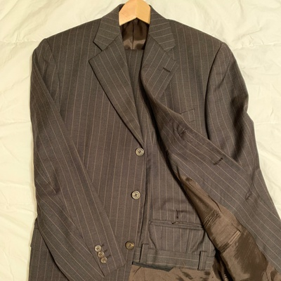 Three-button suit from Italy