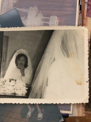 My Grandmother during her wedding (1973)