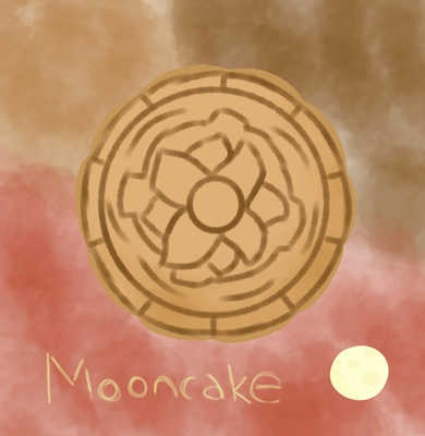 Soo it's a mooncake I drew.