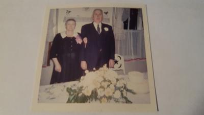 Frank & Bertha, 55th wedding anniversary