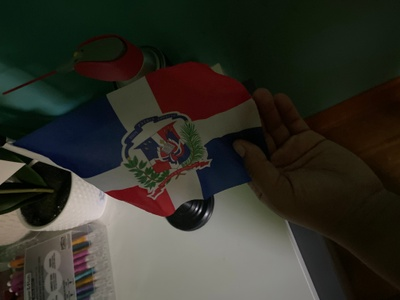 This is a flag from Dominican Republic