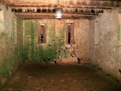 A holding cell for the slaves.
