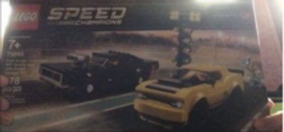 Speed Champion LEGO box with race cars